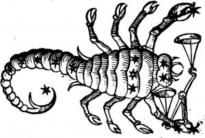 Scorpio. Guido Bonatti, 'De Astronomia Libri X'. Basel. Nicolaus Pruknerus. (1550)
